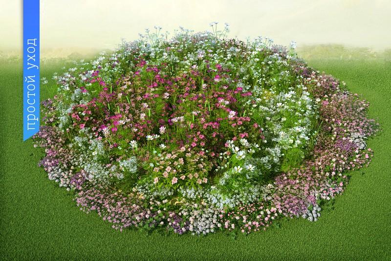 Выкройка клумбы цветов